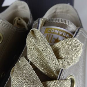 Converse CTAS Metallic Gold Big Eyelet Ox Sneakers NWT